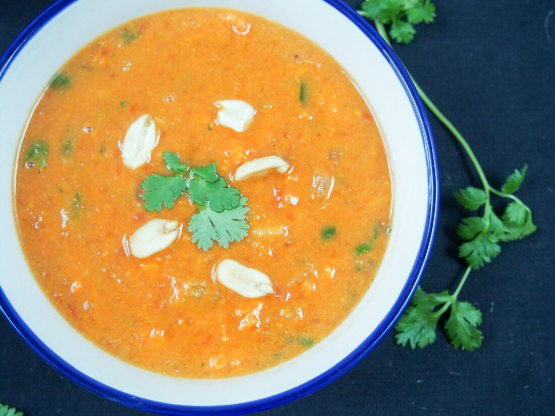 West African peanut soup #FoodieExtravaganza - Caroline's Cooking