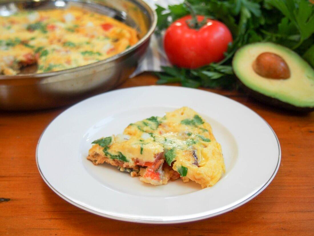 Bacon lobster omelette #ValentinesDayFood - Caroline's Cooking