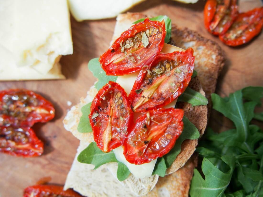 Slow roasted tomatoes #SundaySupper - Caroline's Cooking