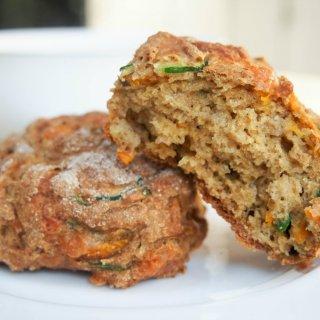 Carrot, zucchini and cheddar soda bread rolls