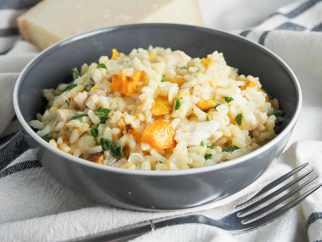 butternut squash risotto with chicken