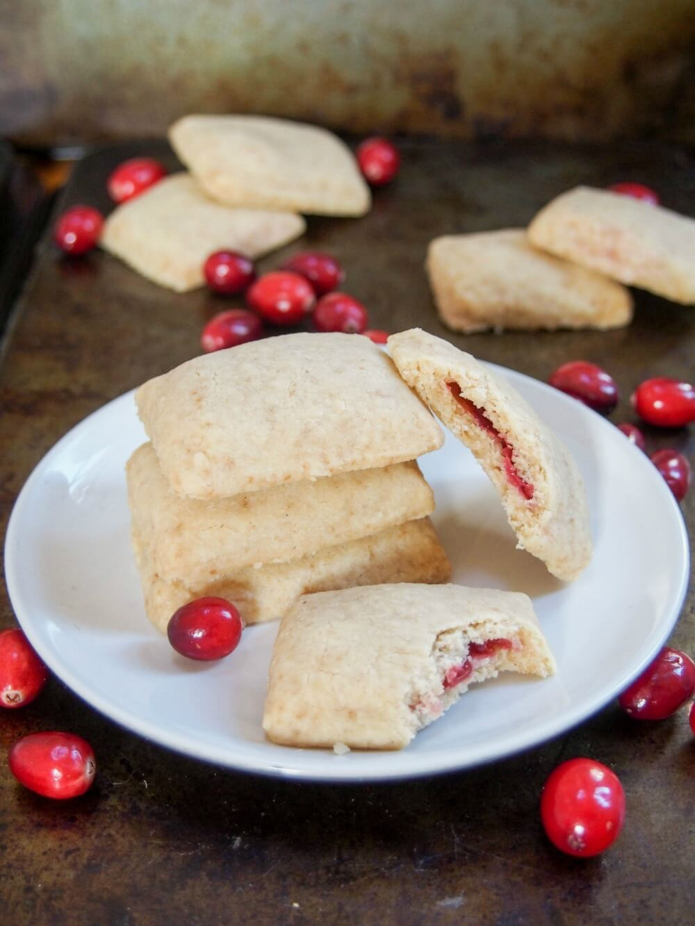 cranberry jam filled shortbread cookies