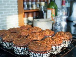 pumpkin beetroot muffins