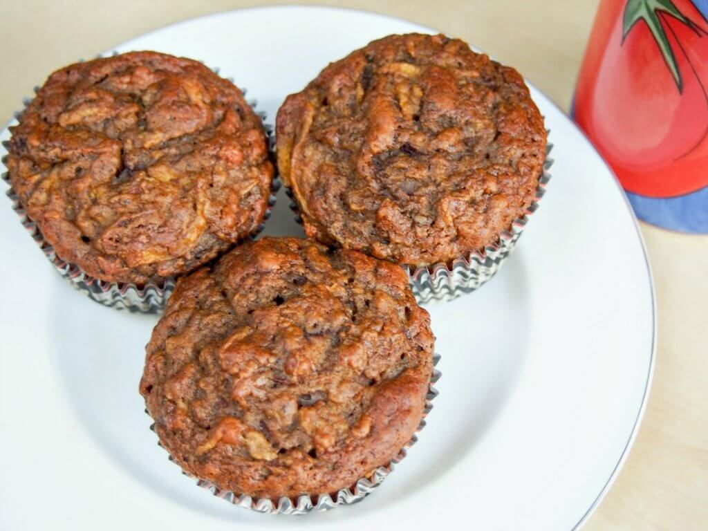 These pumpkin beetroot muffins are wonderfully moist, warmly spice and sweetened only with date and banana (no refined sugar) so you can feel good about them too.