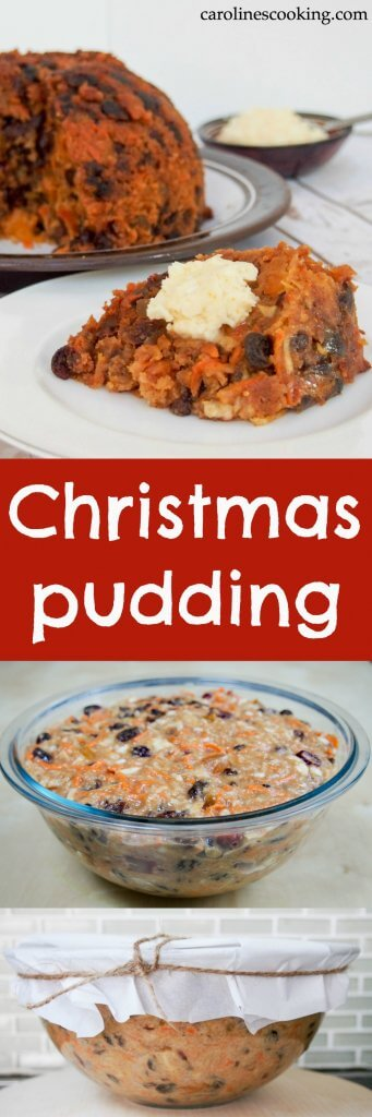 It wouldn't be a Christmas meal without Christmas pudding in the UK. This version of the traditional dessert is lighter than many, but packed with delicious flavors, lots of fruit & a touch of spice. Perfect for die-hard fans and skeptics alike.