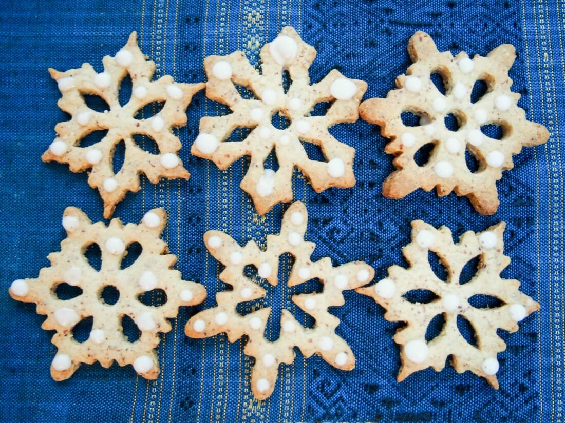 German hazelnut Christmas cookies