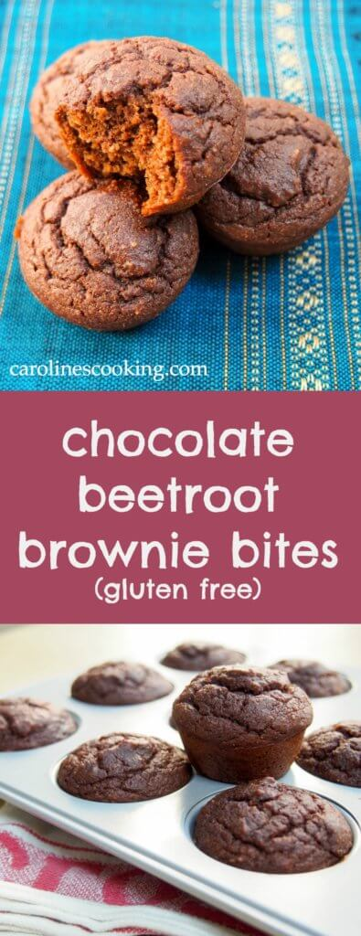 These chocolate beetroot brownies are gluten-free, relatively low in sugar and easily adaptable to be vegan. They are soft, moist and thoroughly delicious.