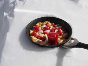 Kaiserschmarrn in the snow!