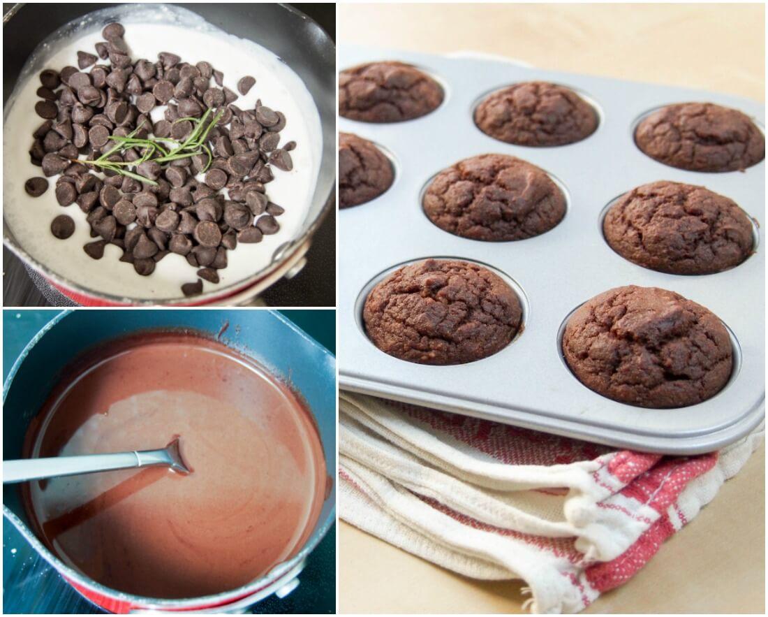 making Chocolate beetroot brownie bites
