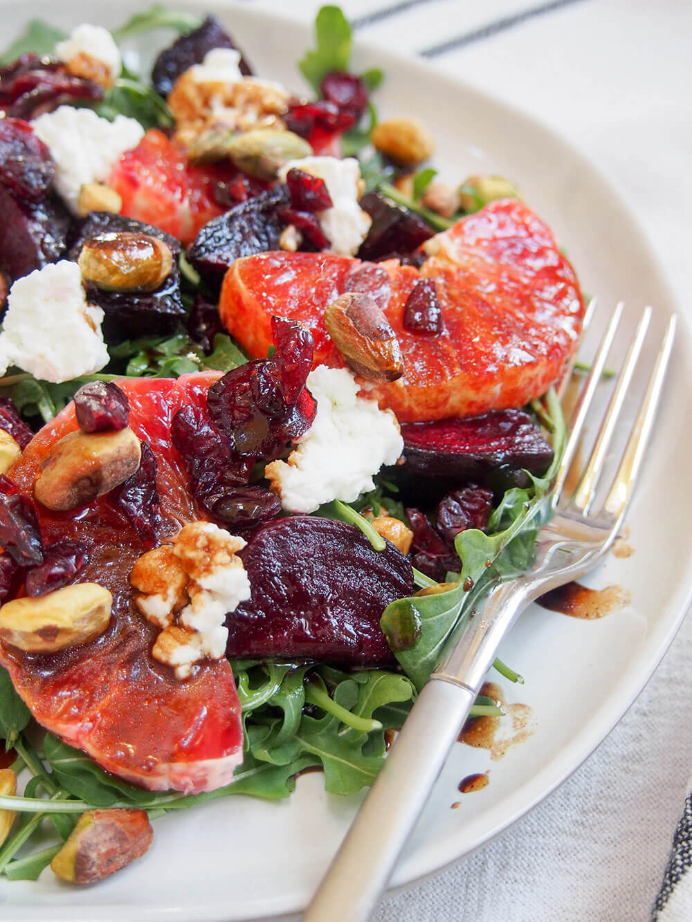 Beet and blood orange salad