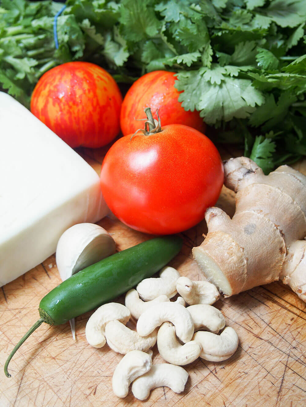 paneer Makhani ingredients