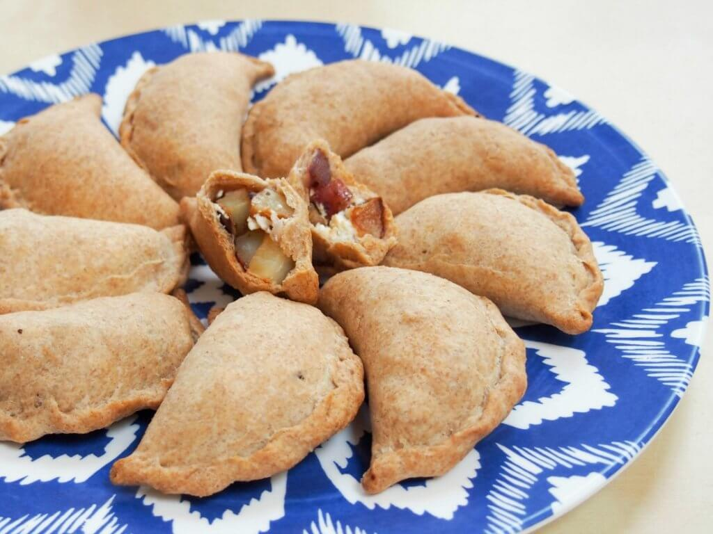 Greek-ish vegetable empanadas