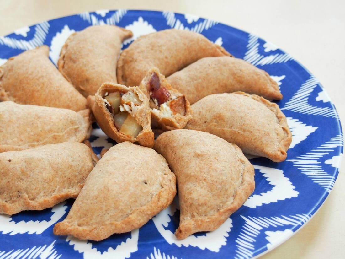Greek-ish vegetable empanadas
