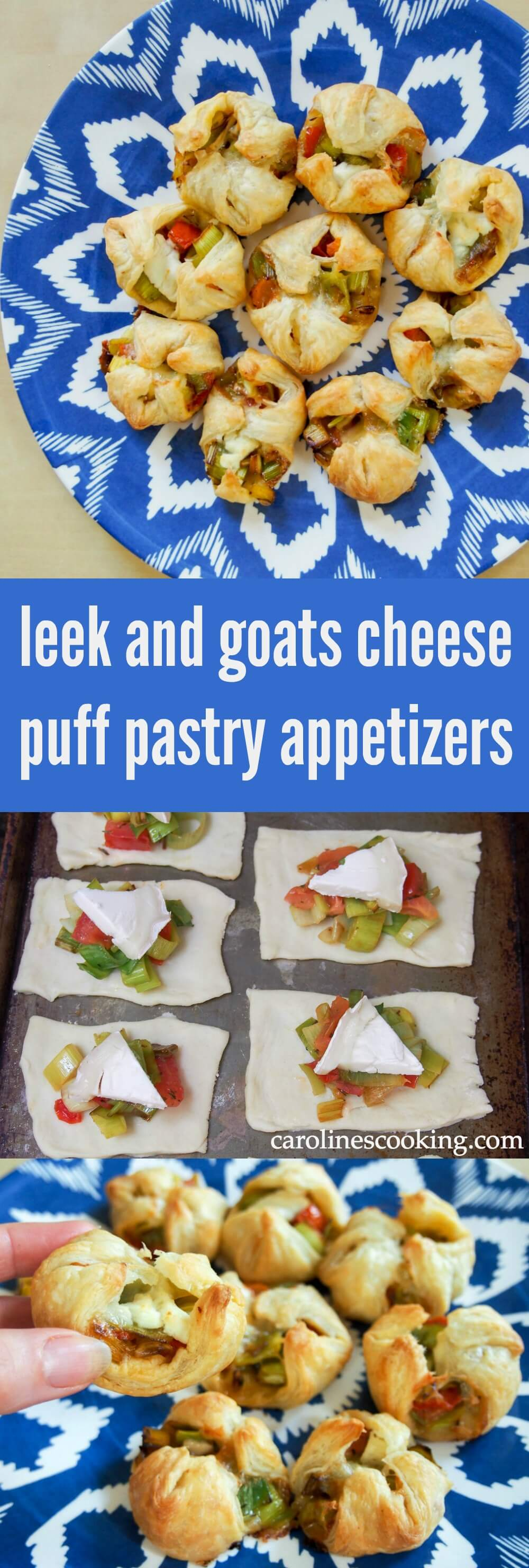 These simple puff pastry appetizers are so quick and easy to make but look great and taste delicious. Perfect party food.