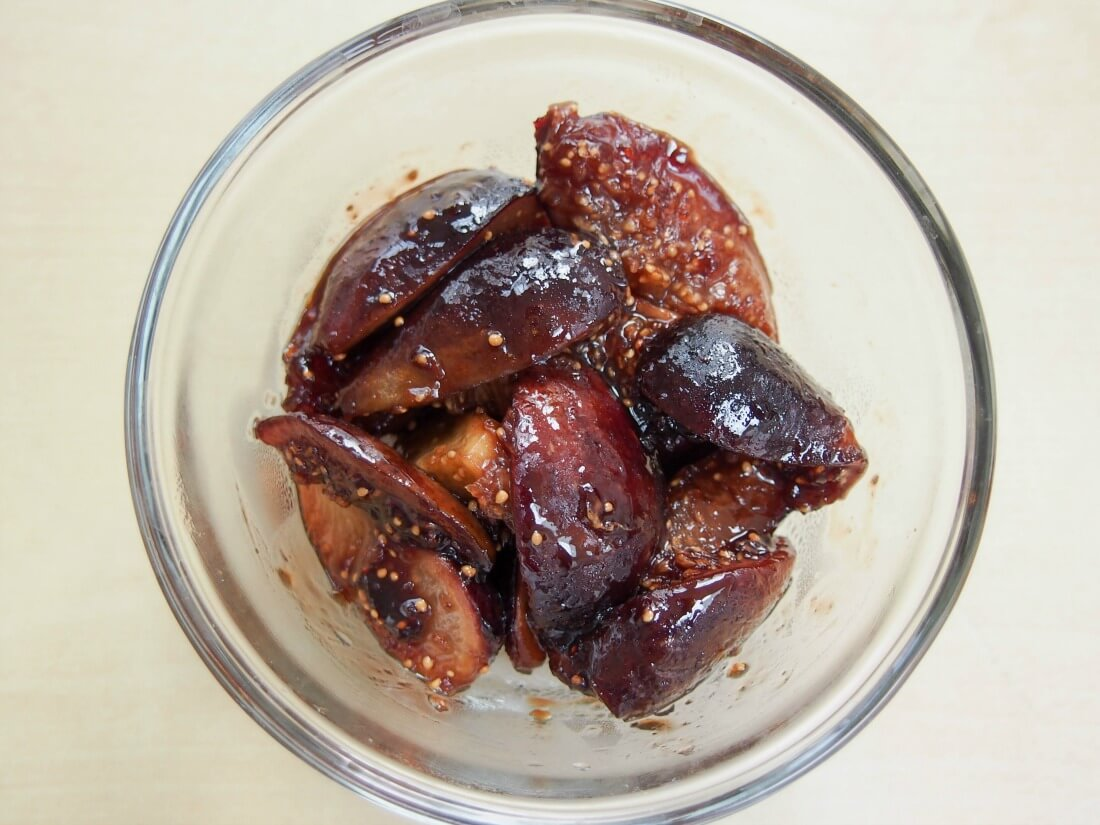 balsamic figs for Prosciutto and goats cheese croissant with balsamic figs