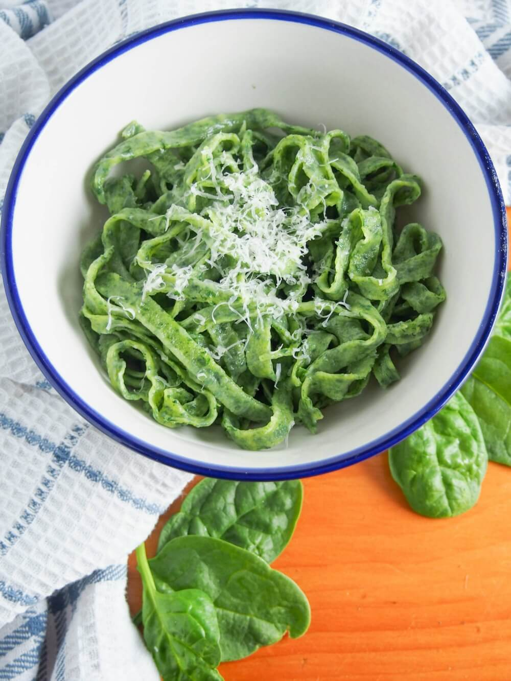 fresh spinach pasta