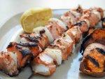honey soy salmon skewers