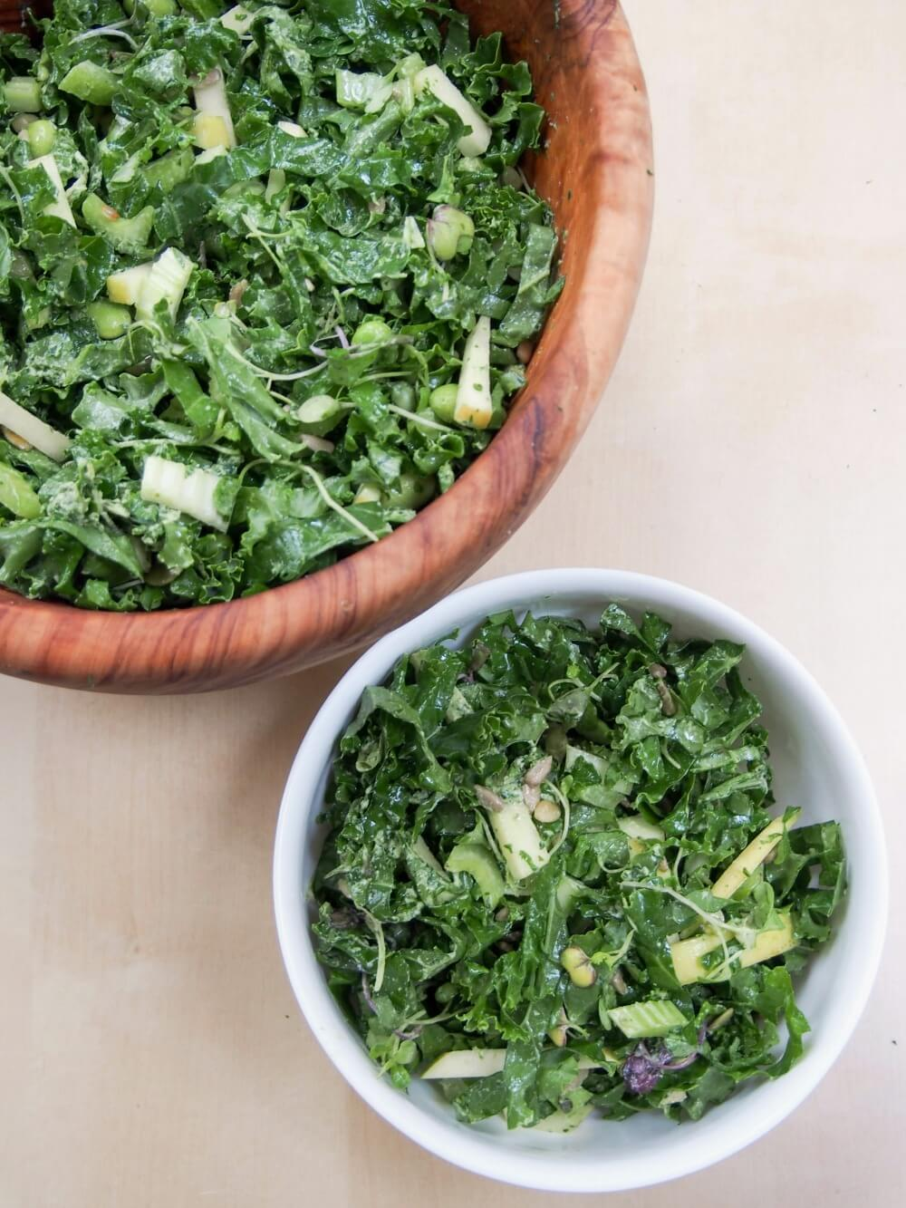 super green kale salad