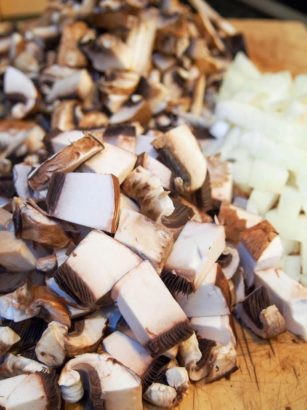 mushrooms for mushroom stroganoff