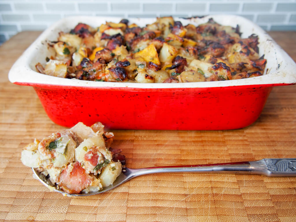 Jerusalem artichoke and persimmon stuffing