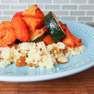 harissa-roasted vegetables with couscous