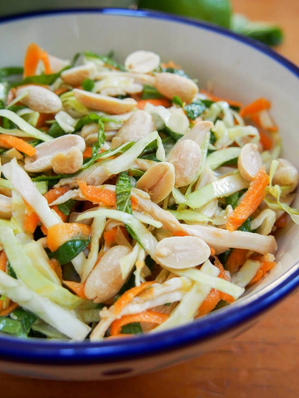 Vietnamese chicken salad is simple but delicious, a great way to enjoy leftover chicken alongside vegetables, herbs and a tasty dressing. A perfect lunch.