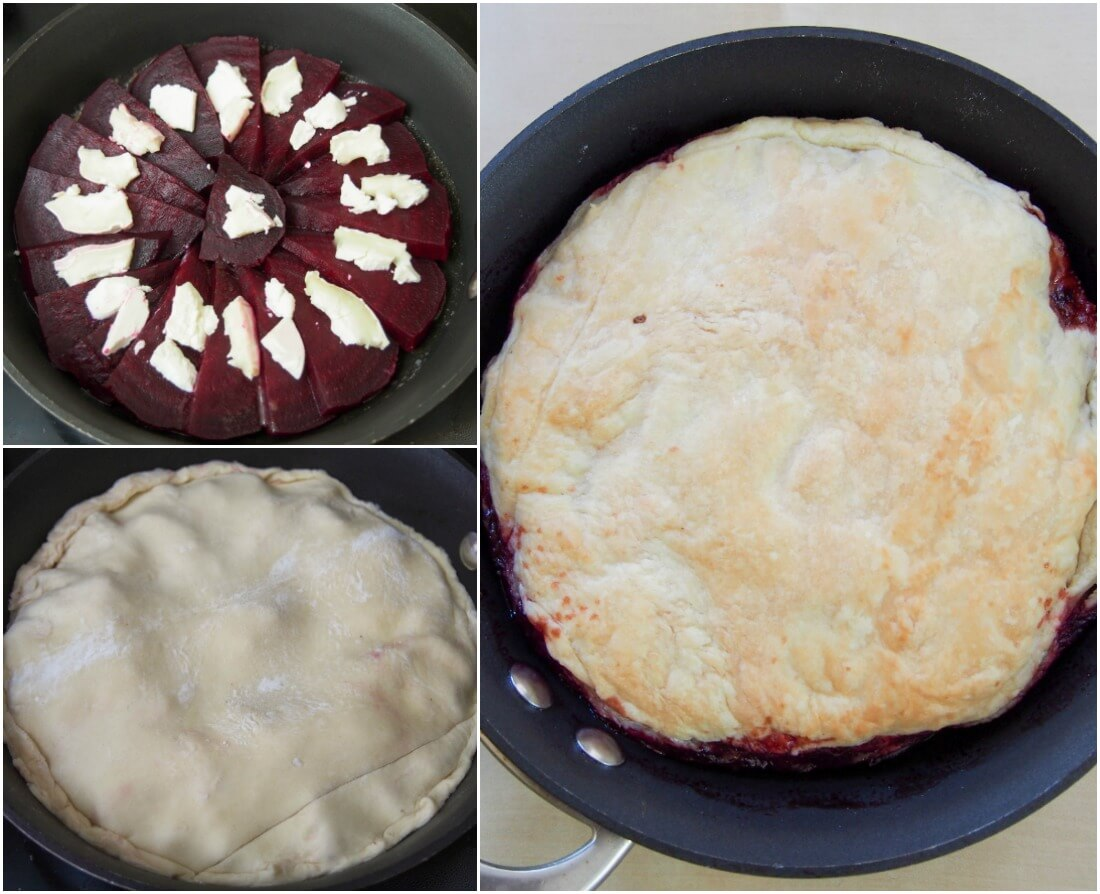 making beetroot tarte tatin