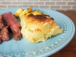 Dauphinoise potatoes - a delicious easy side where the potatoes are cooked in cream and garlic. Warming, comforting and perfect with roast meat and other dishes.