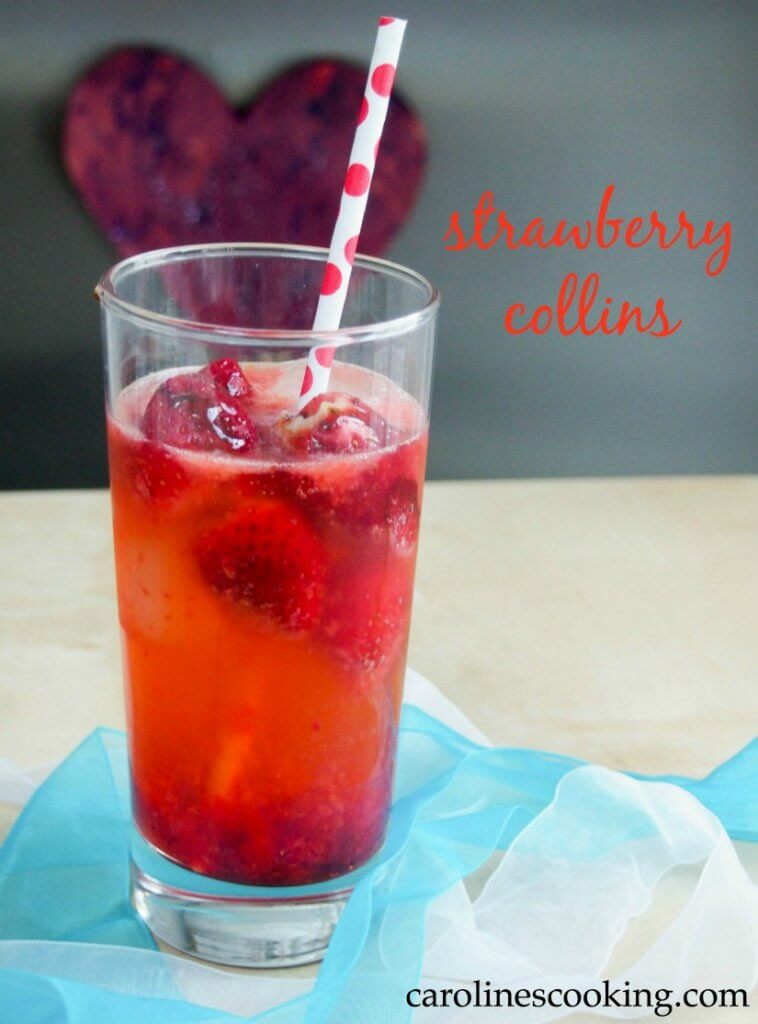 Strawberry collins is an easy variation on the classic Tom Collins cocktail, Colorful, tasty and perfect whether summer or Holiday season.