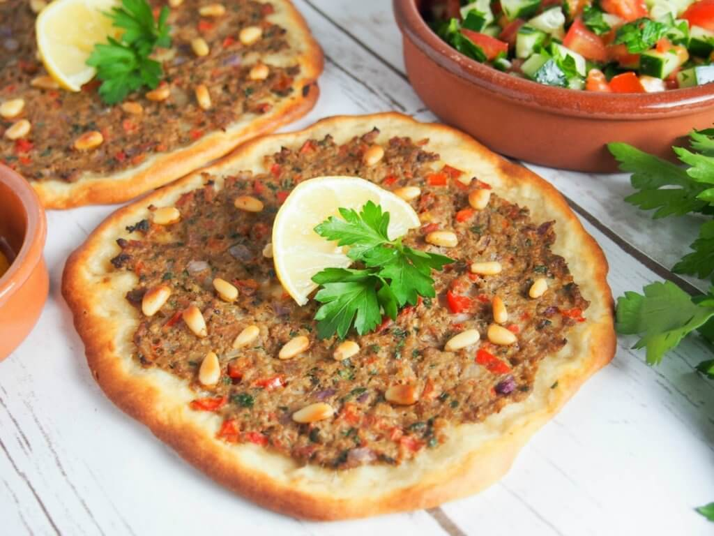Lahmacun – Turkish flatbread