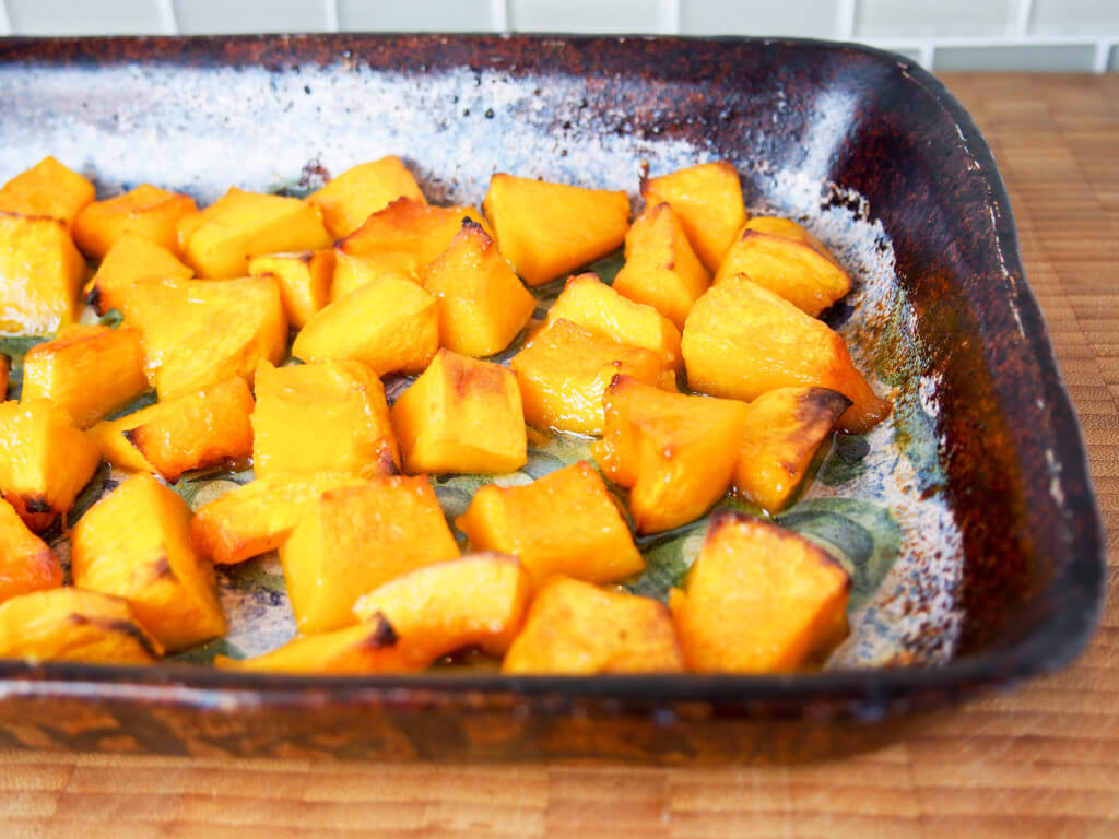 maple roasted buttercup squash - so easy and so delicious