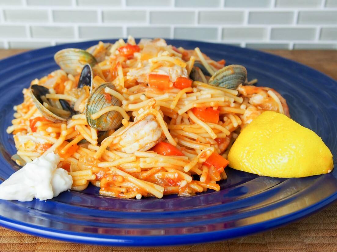 Fideua Pasta Paella Caroline S Cooking