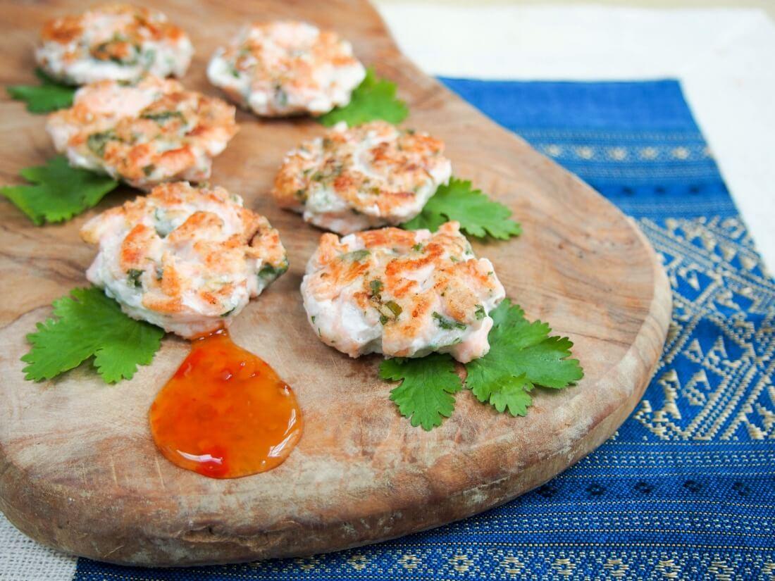 mildly Thai salmon cakes
