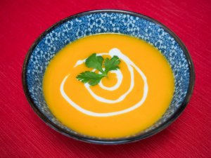 The easiest lemongrass and squash soup