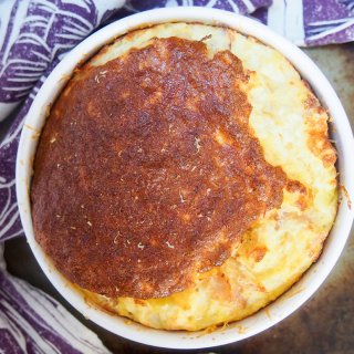 speck potato and cheese souffle