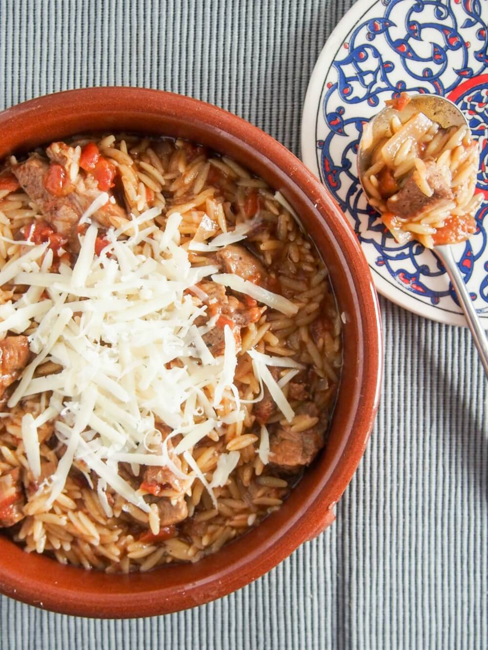 Youvetsi greek beef or lamb and orzo stew carolines cooking youvetsi is a delicious greek stew made with beef or lamb and orzo cooked in a forumfinder Gallery