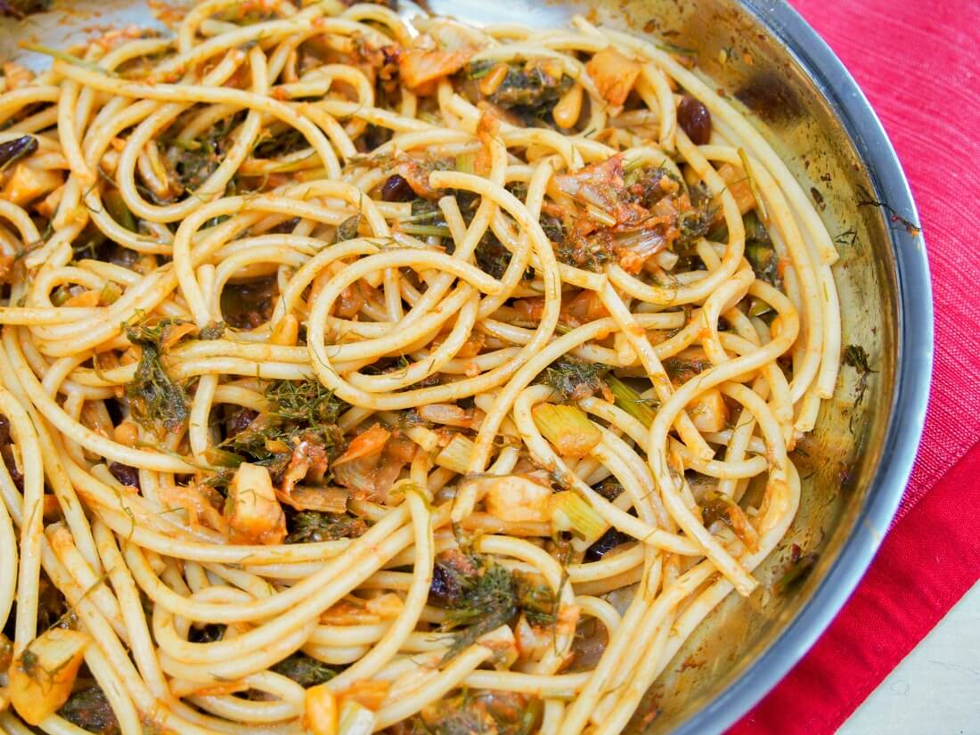 Pasta con sarde a mare - 'pasta with sardines at sea'