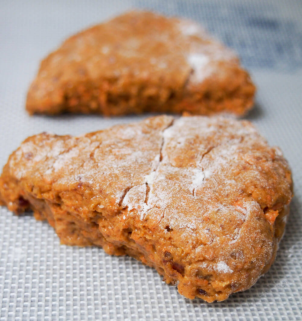 carrot cake scones before baking