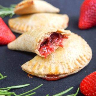 rosemary infused strawberry empanadas
