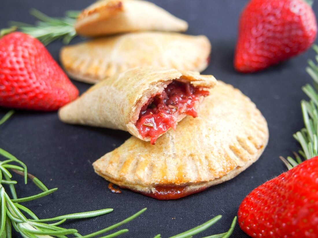 rosemary infused strawberry empanadas