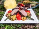 Grilled pork and pineapple salad