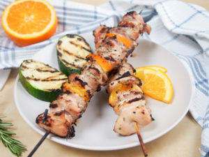 Rosemary orange marinated chicken skewers