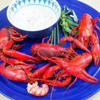 Langoustines with herbed cream are commonly eaten in Denmark for midsummer and it's easy to understand why, they're truly delicious. Easy to prepare too.