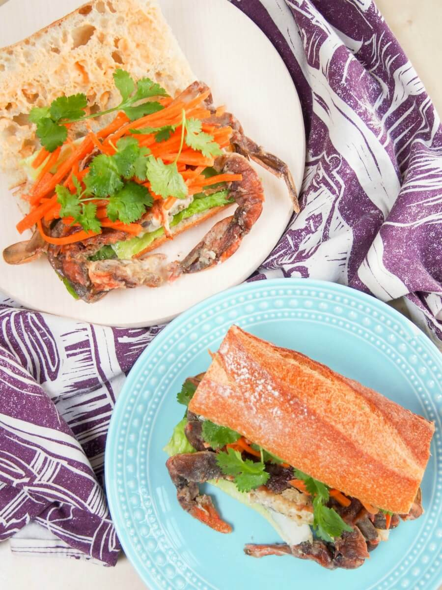 how to make soft crab sandwich