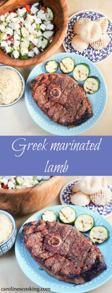 Greek marinated lamb
