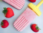 strawberry coconut popsicles (healthy and vegan!)