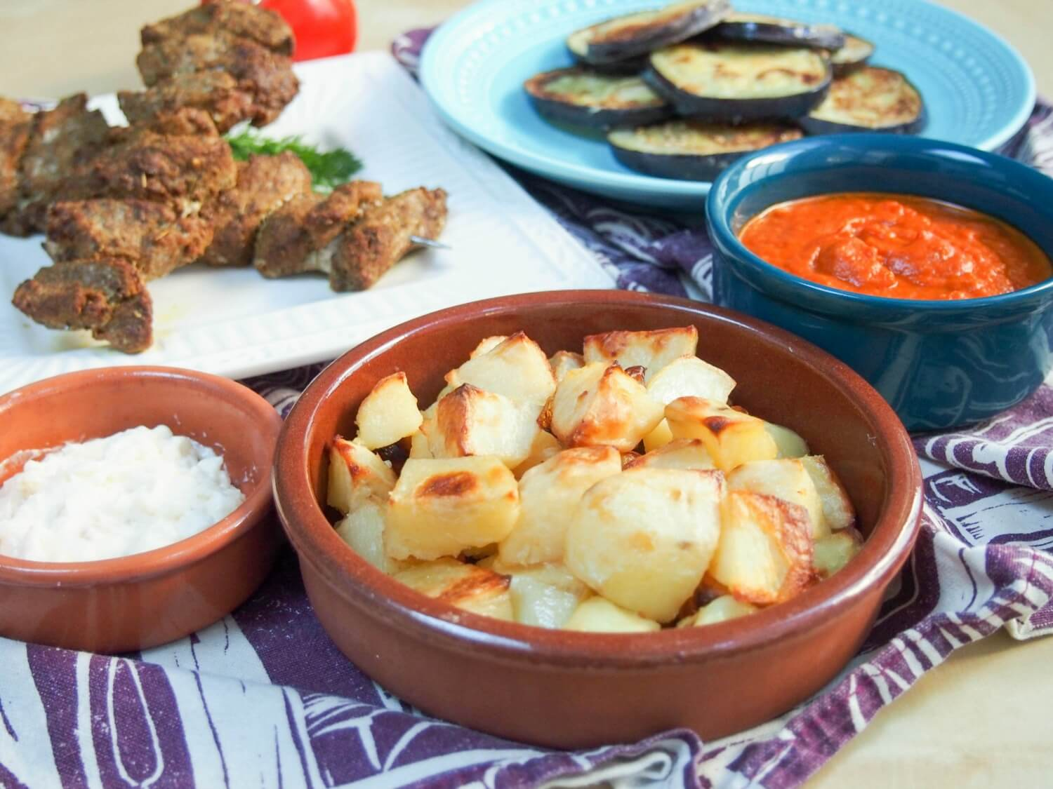 healthier patatas bravas and other dishes