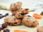 healthy cranberry apricot cookies - sweetened only with fruit, gluten free and vegan, these are some seriously healthy cookies but they're also incredibly tasty. Kid and adult approved, easy to make and easy to enjoy.