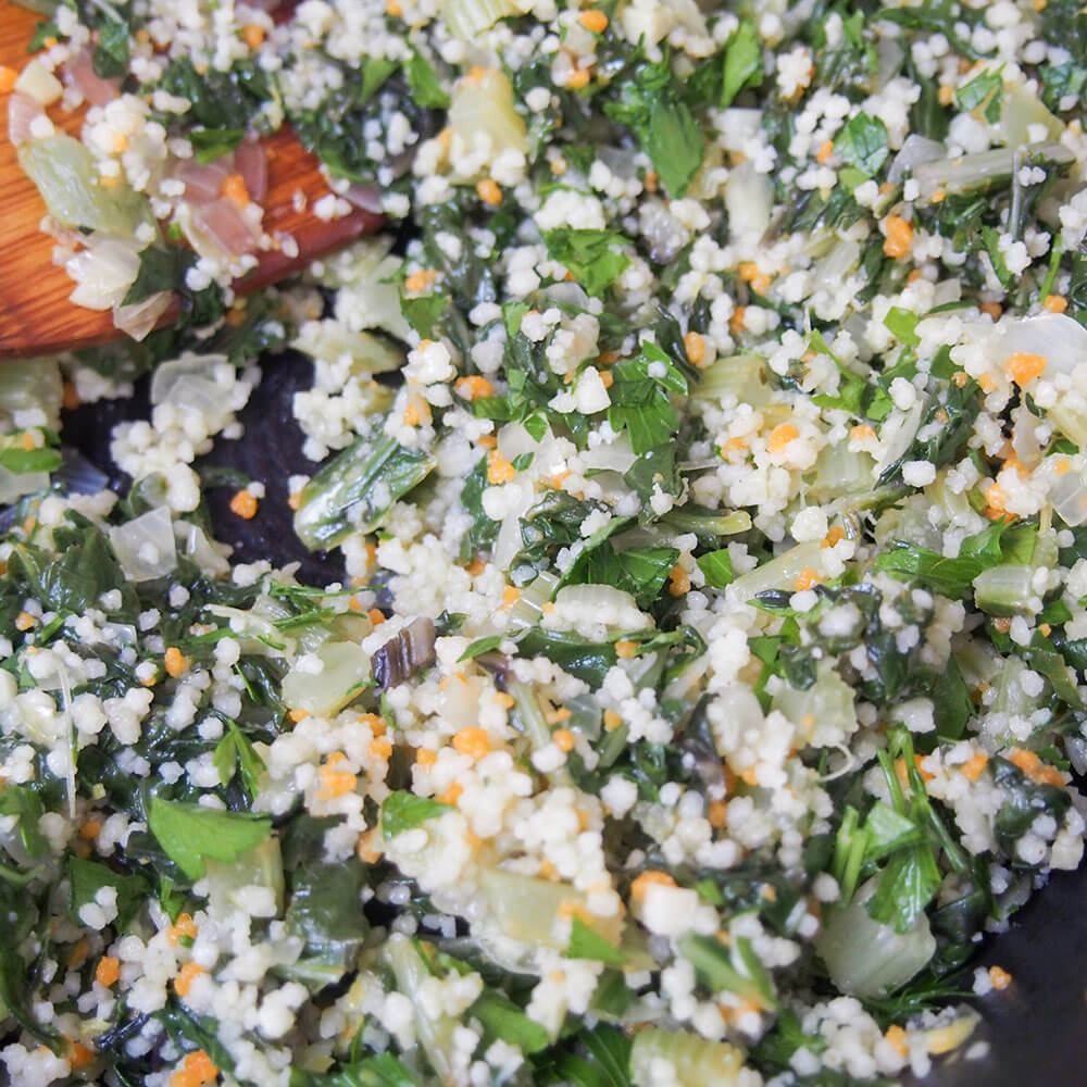 filling for chard couscous stuffed fish