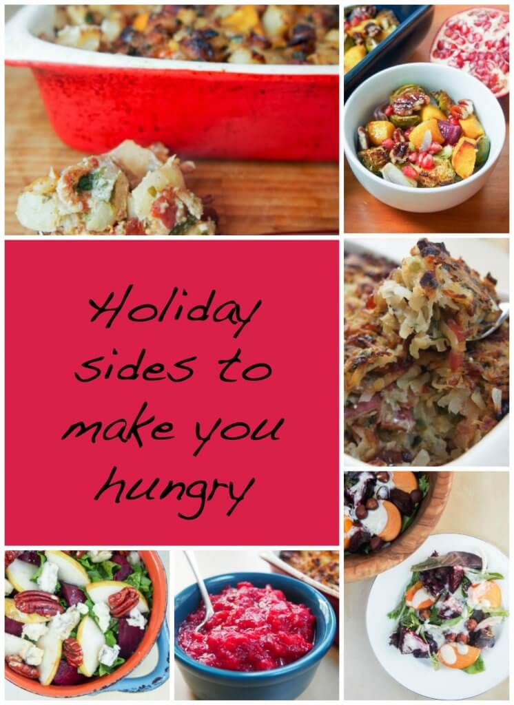 Holiday sides to make you hungry: 40+ sides from #SundaySupper tastemakers as well as a look at some favorites from Caroline's Cooking - every kind of side you could need for your festive meal! #Thanksgiving #Christmas
